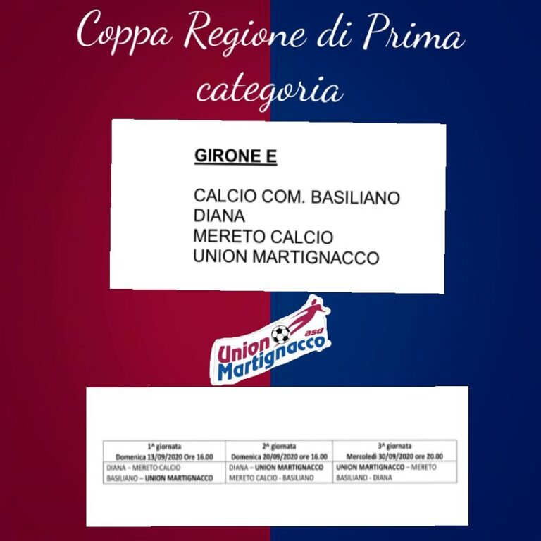 COPPA prima categoria friuli